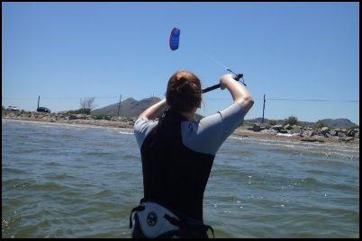 1 Mandy kiten lernen in Juni Mallorca kiteschool