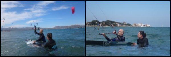 1 Razak bereit für seinen ersten Wasserstart Mallorca Kitesurfen