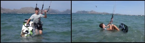 1 Vicente kitesurfing course of 6 hours in Mallorca in August