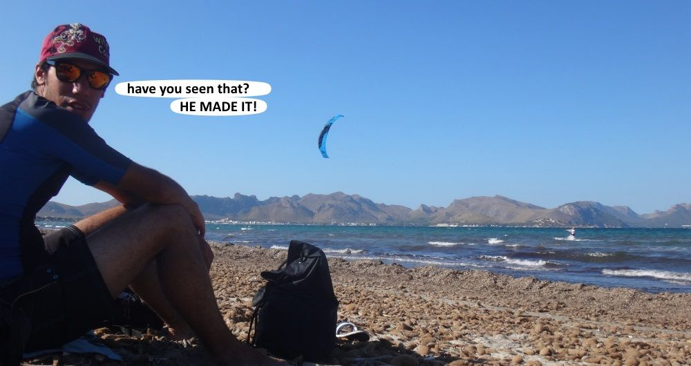 12 he has done it kite course 6 hours Carsten Mallorca
