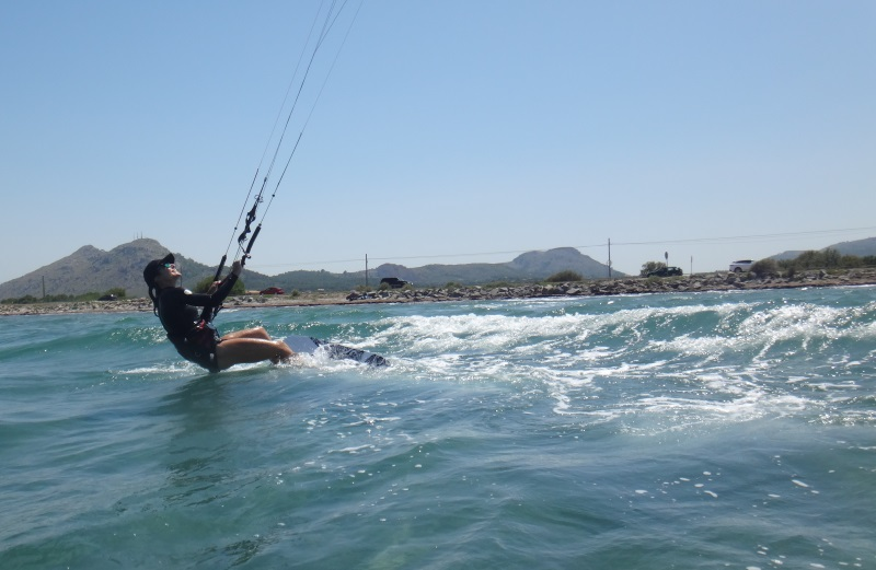 12-now towards the other side of the wind window kite course in June at Alcudia