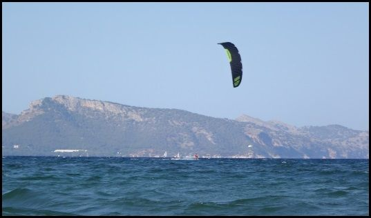 2 Borja kitesurfen mallorca Sonic FR tolles Drachenfoil