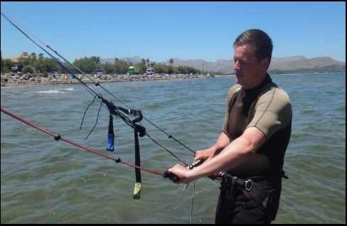 2 Patrick und Ihre kiteschulung Juni Mallorca kiteschool