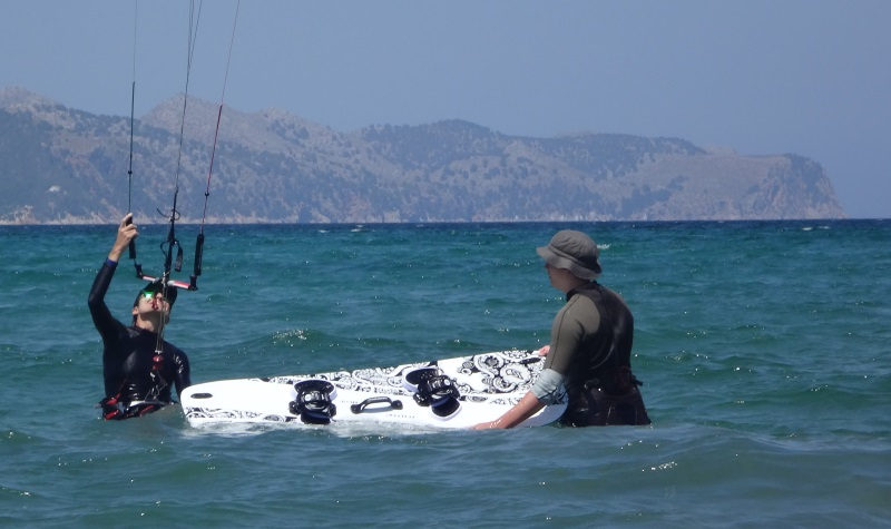 3-kitesurfing lessons in Mallorca ready to try waterstart June