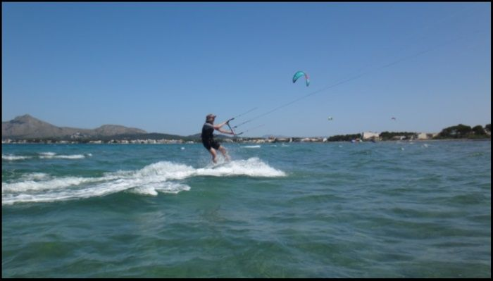4 Patrick passing in front of the camera kitemallorca com wind in Pollensa