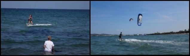4 Vicente and Tomeu kitesurfing lessons in August by Pollensa Bay Mallorca