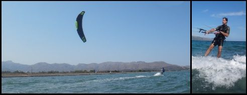 4 testing Sonic FR 18 mts in Pollensa kitespot in July