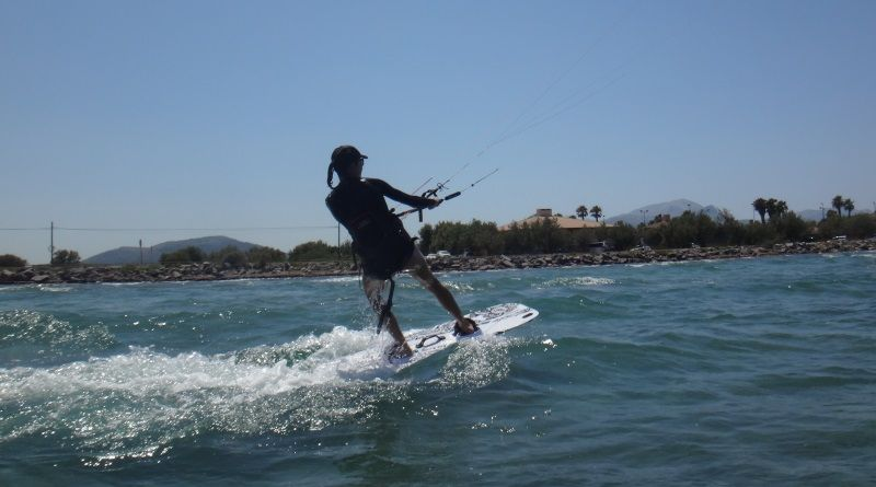 5-Kitesurf-Unterricht Mallorca Kiteschool Portblue Club im Juni