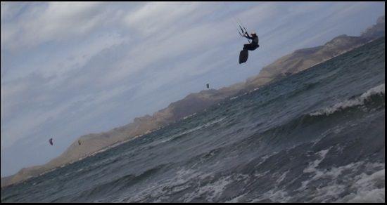 5 nähert sich der Landung Kitesurfen Mallorca