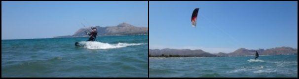 5 navegando con rapidez y ciñendo Mallorca kiteschool la escuela de kite en Pollensa