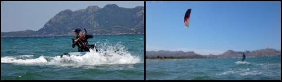 6 Marcel kitesurfing on his 3 days kite course in May Alcudia