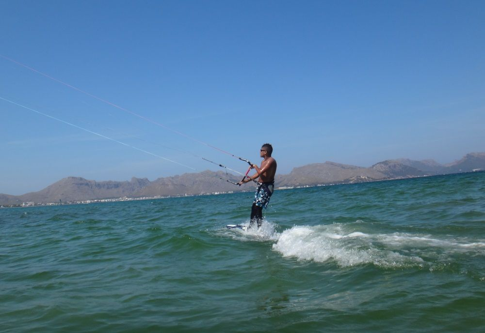 6 gaining meters away kitesurfing lessons mallorca