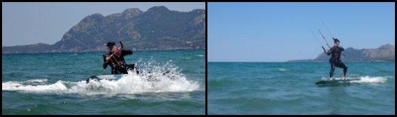 8 finalmente estás navegando en ambas direcciones curso de kite en Mallorca en Julio