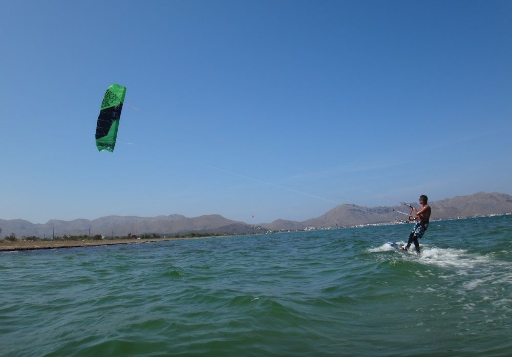 8 real real distance kitesurfing lessons mallorca in August