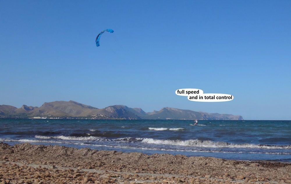9 Pollensa Can Picafort Sa Rapita kite school Mallorca in July