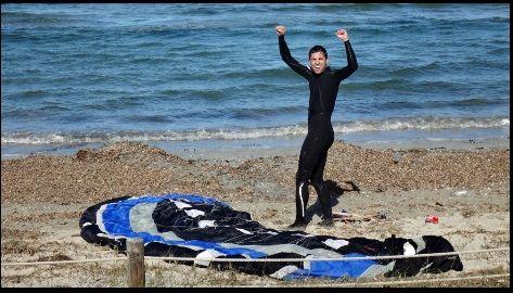 Borja am Strand, kitesurfen schule auf Mallorca
