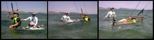 Die drei Tage, die der Kurs von Marina dauerte Mallorca kiteschool