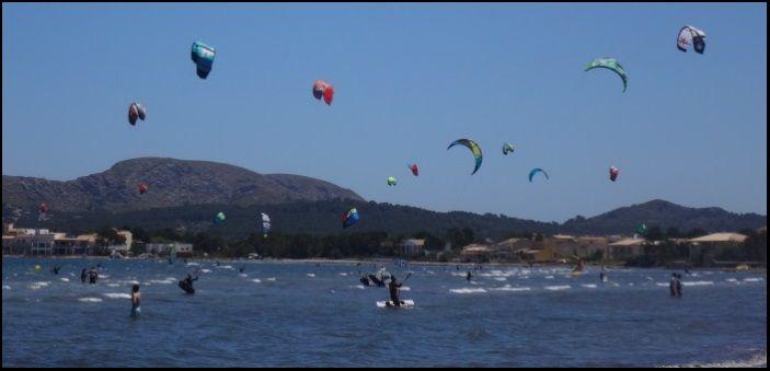 Ein Kitesurf-Tag wie so viele Tage mallorca kiteschool