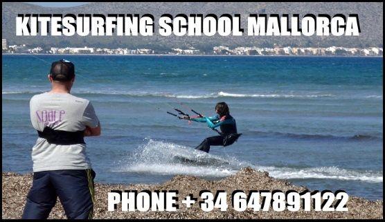 Escuela oficial de kitesurf en Mallorca