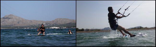 Kitespot in der Bucht von Pollensa Mallorca kitekurs in April mit Joseph