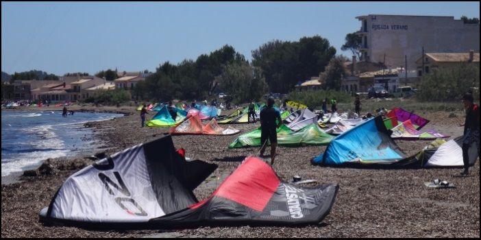 Mallorca kiteschule der Bucht von Pollensa und seine kite park platz