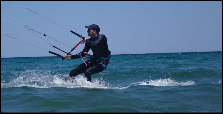 Marcel kite course in mallorca in May wind in Mallorca