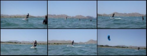 Micha Kite-Unterricht ist ein Flysurfer 9mts Peak Modell