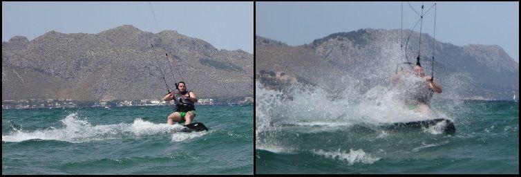 Nach Hunderten von Metern hält Ozzy sein Kitetraining auf