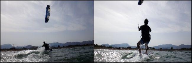 Nach den ersten 200 Metern Kitesurfen Mallorca kiteschool kitekurs im April mit Joseph