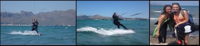Sofie 3 hours kite course learn in Mallorca with mallorca kiteschool