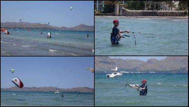 Two swedish kids kite lessons