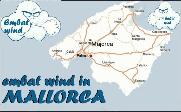 embat wind in Mallorca in June