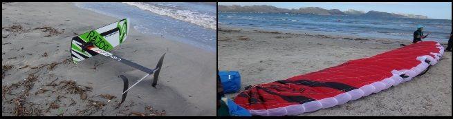 flysurfer kite hydrofoil prototyp und Sonic 2 Flysurfer Mallorca