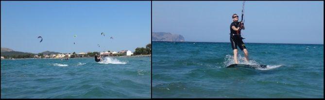 ihren Wasserstart während ihres Kite-Kurses erfolgreich kitekurs Juli