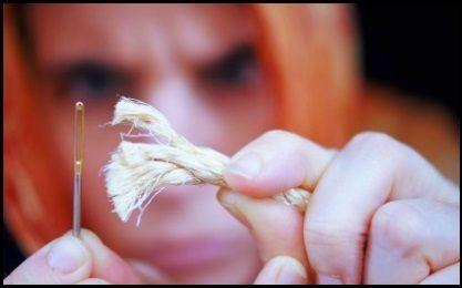 ist es nicht so einfach, eine Nadel zu fädeln