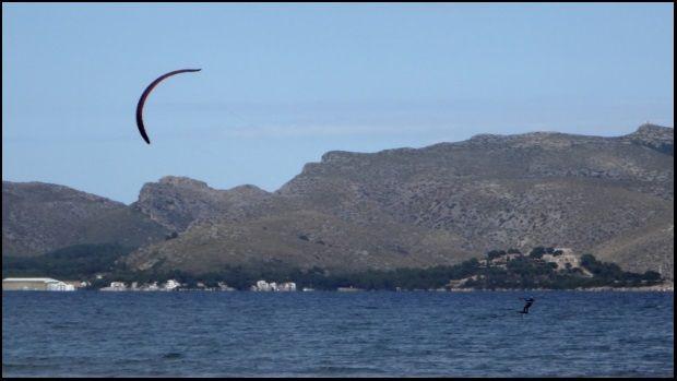 kite foil Flysurfer mallorca kitechool bei Pollensa Bucht September
