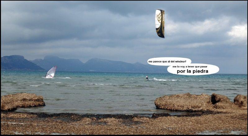 kitesurf y windsurf en mallorca David clases de kite en Junio
