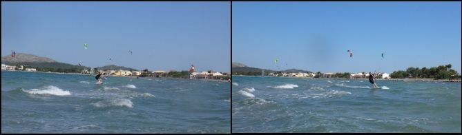 noch nicht versucht haben, Kitesurfen zu lernen auf mallorca im Juli