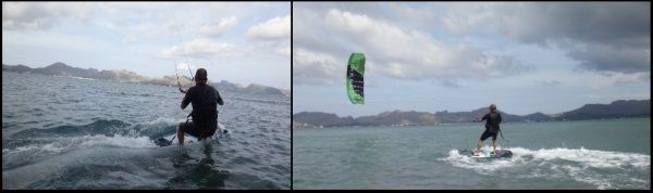 unseren Freunden Darren und Richard treffen auf Mallorca Juni kitekurs