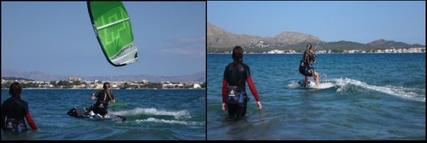 wind in Mallorca for kite course in Juni Alcudia Pollensa Bay