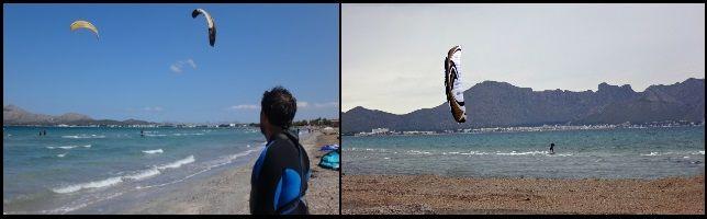 winds in Mallorca from NE mallorca kiteshool training during July