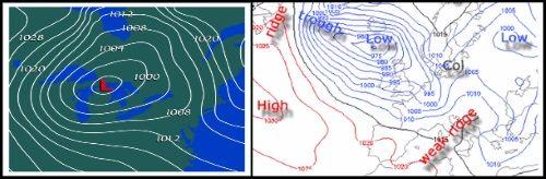 1 Isobars Mallorca kitesurfing lessons meteorology