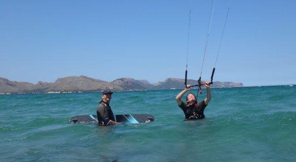 1 Vanessa kite student Swiss Mallorca kite course in May