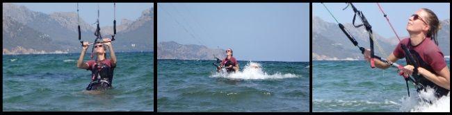 1-kitesurf lecciones en Alcudia-Mallorca lecciónes de kitesurf aprender en un día