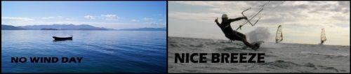 1 wenig wind aber viel spass Flysurfer Mallorca kiteschool