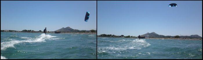 11 clases de kitesurf Patrick en Mallorca viento en Pollensa