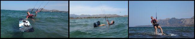 2 clases de kite en Palma-Alcudia-Pollensa Svenja alumna principiante