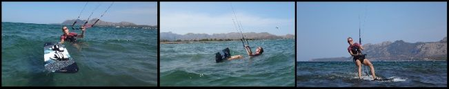 2 kite courses in Alcudia and Pollensa Svenja a total beginner