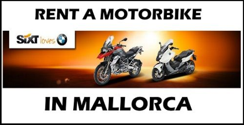 2 rent a motorbike with sixt in Mallorca no wind day