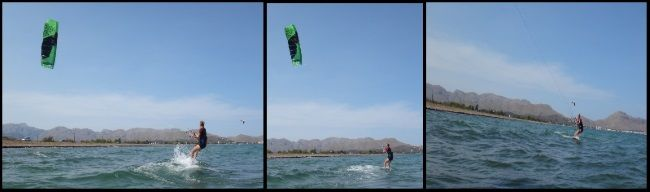3 Ksenia waterstart and first successful 300 meters on the kiteboard